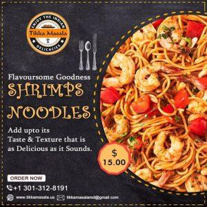 shrimps noodles-tikkamasala